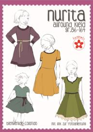 Farbenmix papier patroon Nurita kinderjurk  86-164