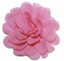Stoffen bloem 7 cm roze