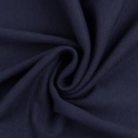 Donkerblauwe boordstof. Rondgebreid 48 cm. Per 25 cm