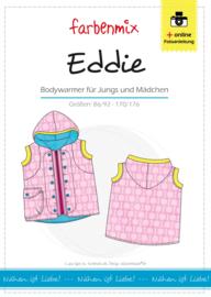 Farbenmix papier patroon Eddie, bodywarmer 86/92 - 170/176