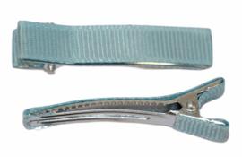Alligator haarclipje 10x50 mm lichtblauw, per stuk