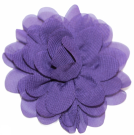 Stoffen bloem 7 cm paars