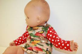 Baby meisjesshirt paddestoel 62-80
