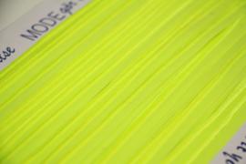Elastisch paspelband glans/mat neongeel per 0,5 meter