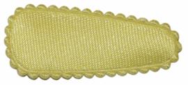 kniphoesje satijn zachtgeel 3 cm