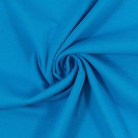 Blauwe boordstof. Rondgebreid 48 cm. Per 25 cm