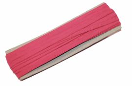 gekleurd elastiek donkerroze 6mm, per meter