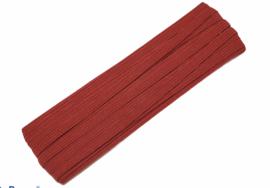 gekleurd elastiek donkerrood 6mm, per meter