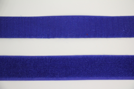 Klittenband 25 mm kobaltblauw per 0,5 meter