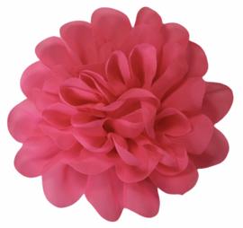 Stoffen bloem 10 cm fuchsiaroze