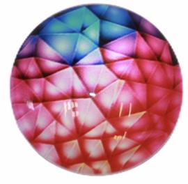 Glas cabochon 25mm: multi color