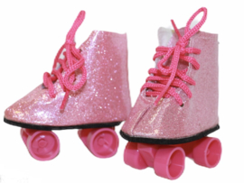 Rolschaatsjes roze voor babyborn