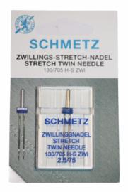 Schmetz tweeling STRETCH machinenaalden 2.5 / 75