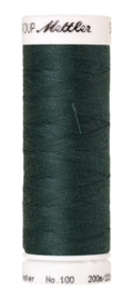 French Terry tricot: Bistro groen, SEE YOU AT SIX, per 25 cm