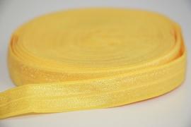 Elastisch band geel 16 mm per 0,5 meter