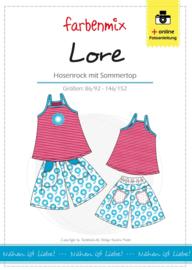 Farbenmix papier patroon zomertop en broekrok  Lore 86/92 -146/152