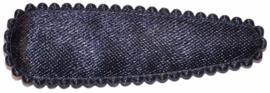 kniphoesje donkerblauw  satijn 5 cm