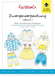 Farbenmix papier patroon Zwergen-verpackung vol1 maat 50/56 - 74/80
