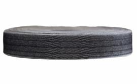 Elastisch bandje zwart-wit 22mm, per 0,5 meter