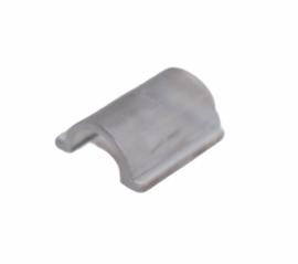Flatback bevestiging voor aan haarelastiekje transparant 11x13mm , per stuk