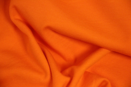 Tricot: effen knal oranje, per 25cm