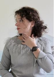 Lillesol & Pelle women shirt met boothals-kraag maat 34 t/m 50