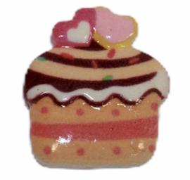 cupcake cabochon perzik 17x19 mm