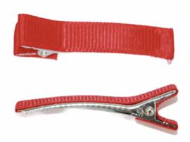 Alligator haarclipje 10x50 mm rood, per stuk