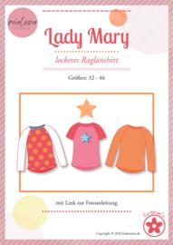 Farbenmix papier naaipatroon  raglan shirt Lady Mary  32-46