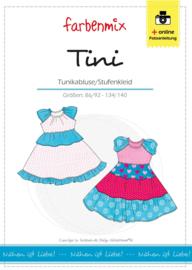 Farbenmix papier patroon tuniek/jurk Tini 86/92 -134/140