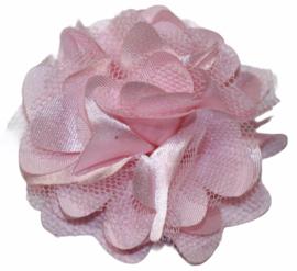 Tule bloem 5 cm lichtroze