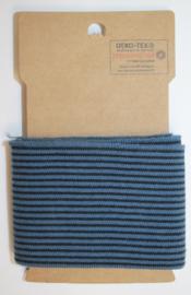 Cuff  stripes jeansblauw-blauw  7x110 cm