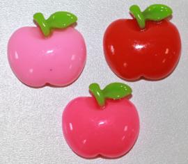 Appel flatback 18mm 3 kleuren