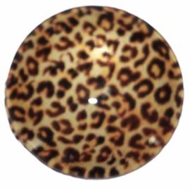 Glascabochon 20mm panter bruin