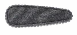 Kniphoesje fluweel grijs,  5 cm