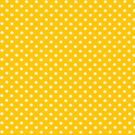 Tricot lemon yellow met witte stippen 1 cm per 25cm