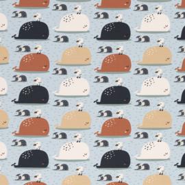 Tricot: Bern walvis en meeuw (Swafing) , per 25 cm