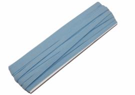 gekleurd elastiek lichtblauw 6mm, per meter