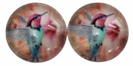 12 mm glascabochon vogel