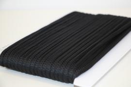 Koord vierkant 5mm zwart per meter