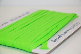Veterband dubbeldik 9mm neon groen, per meter