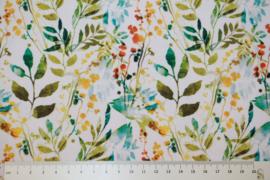 Tricot digitale print : blaadjes (Stenzo) per 25 cm