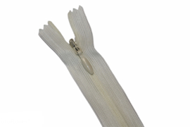 Blinde rits 22,5 cm ivoor
