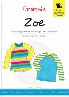 Farbenmix papier patroon Zoe raglanshirt 86/92- 158/164