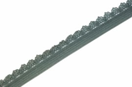 Elastisch kantje Dusty green 12mm per 0,5 meter