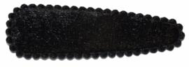 Kniphoesje fluweel zwart,  5 cm