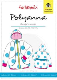 Farbenmix papier patroon jas Polyanna 86/92 - 170/176