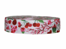 Elastisch band cherry world per 0,5 meter