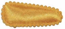 kniphoesje satijn effen warm geel 3 cm
