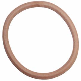 Haarelastiekje perzik +/- 45 mm, dikte 4mm